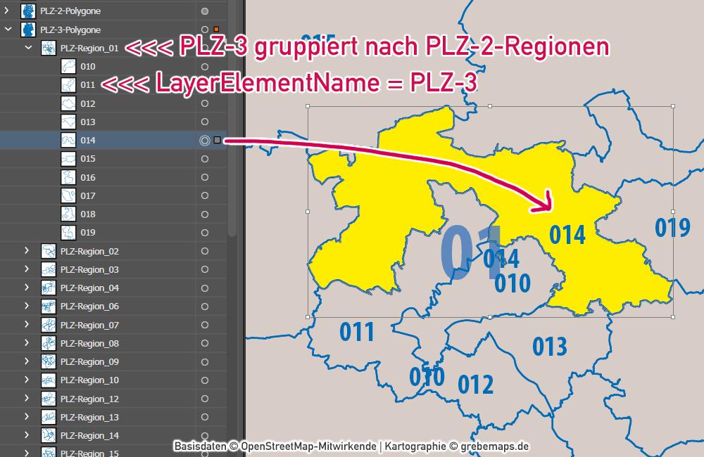 Deutschland Postleitzahlenkarte PLZ-1-2-3 mit Landkreisen Bundesländern Autobahnen Orten Vektorkarte (2020), PLZ-3-Karte Deutschland Vektoren, Karte PLZ-3 Deutschland, AI, download, editierbar, Vektorgrafik, Vektorkarte