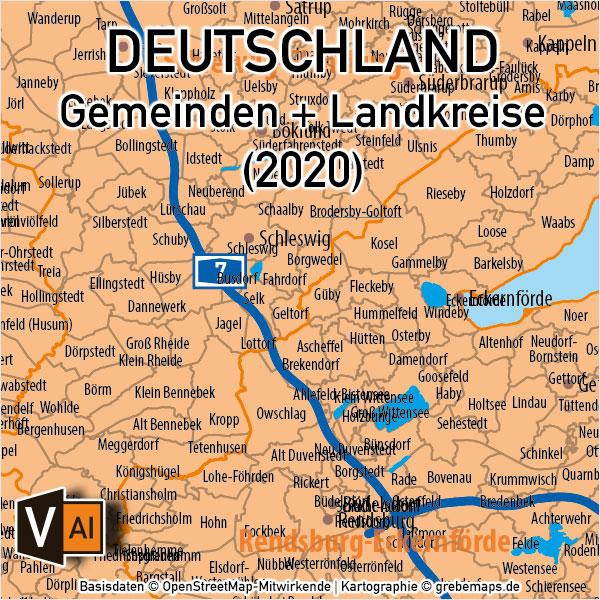 Deutschland Gemeinden Landkreisen Bundesländer Autobahnen Vektorkarte, Karte Gemeinden Deutschland, Karte Landkreise Deutschland, Vektorkarte Deutschland Gemeinden, Karte Vektor Gemeinden Deutschland, AI, download, editierbar, ebenen-separiert