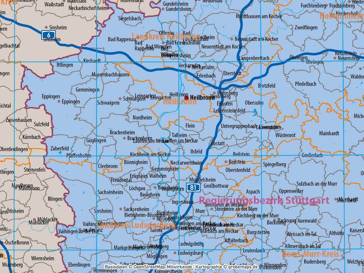 Landkreise Baden Württemberg Karte