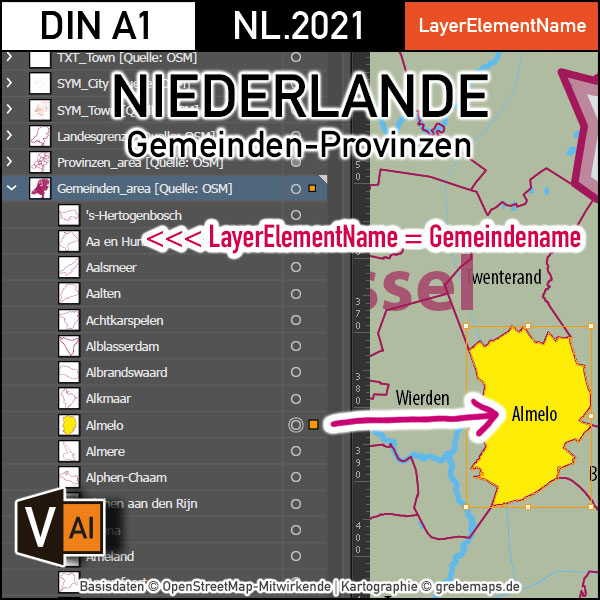 Niederlande Vektorkarte Provinzen Gemeinden Autobahnen (2021), Karte Niederlande, Landkarte Niederlande, Vektorkarte Niederlande, AI, Download, Editierbar, Karte Niederlande Für Illustrator, Vector Map Netherlands, Vektor Karte Niederlande